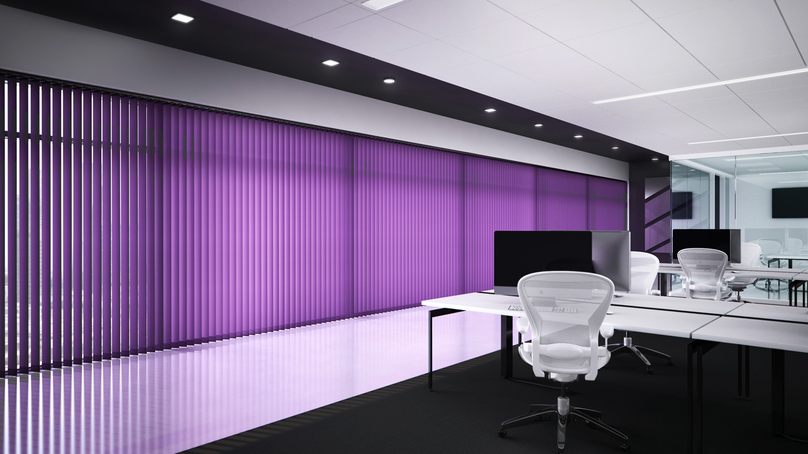 Purple Vertical Blind