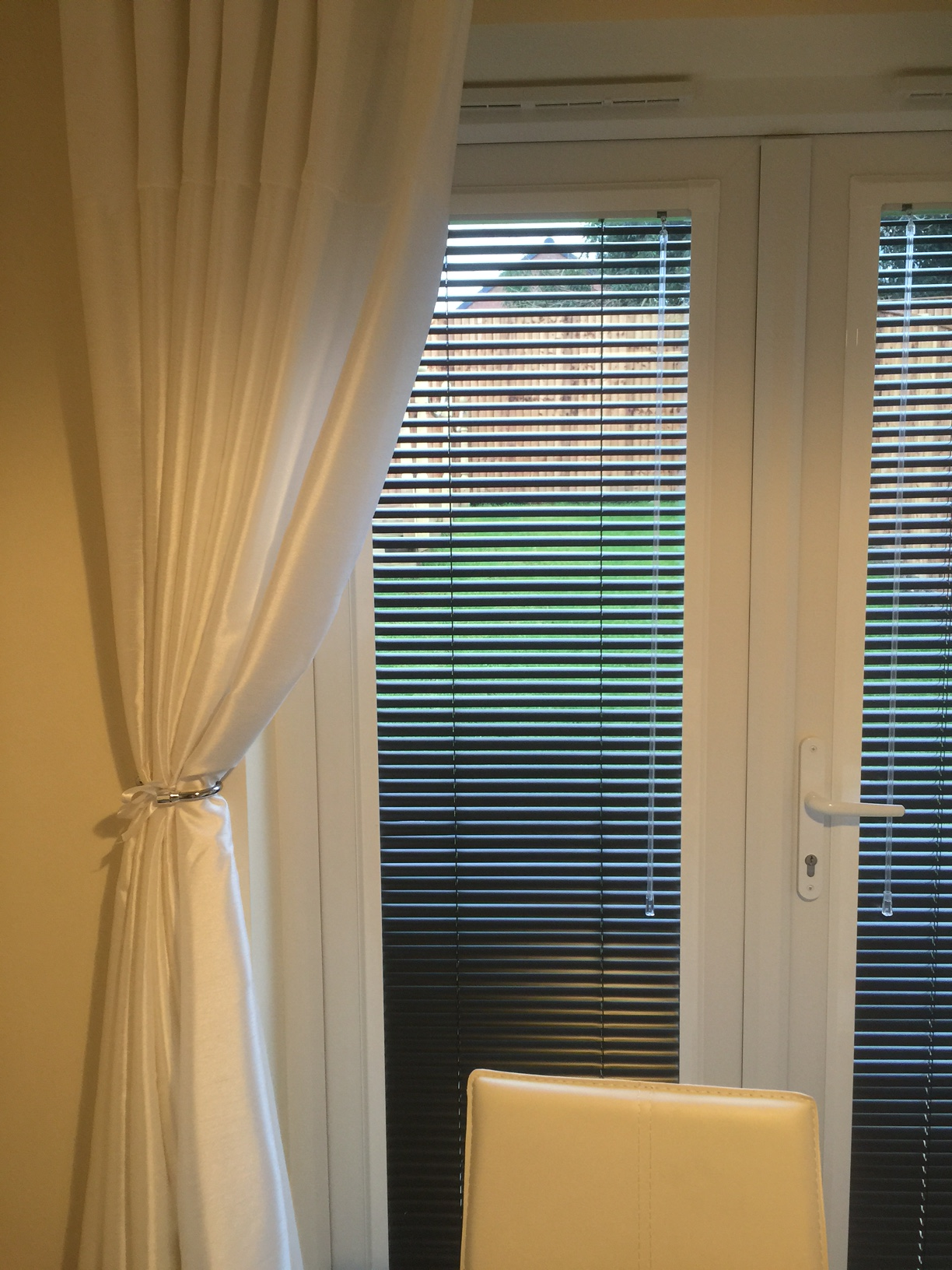 How To Dress Upvc French Doors With Window Blinds Order Blinds