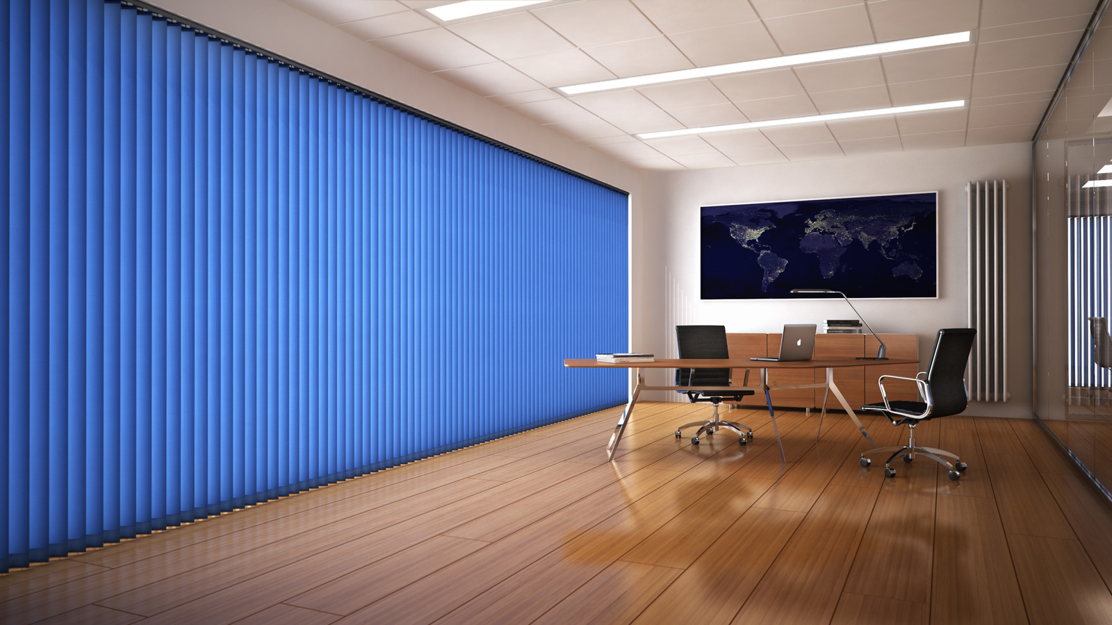 Cadet Blue Vertical Blind