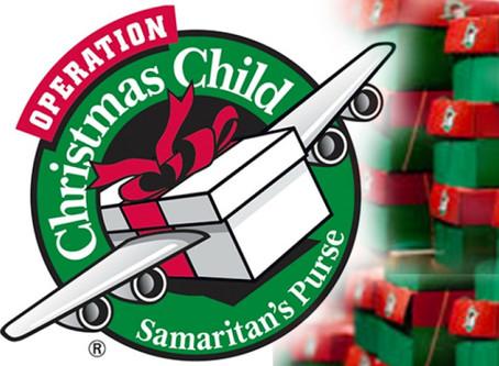 2020年 オペレーションクリスマスチャイルド 贈り物シューボックス