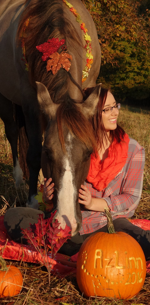 Mellissa Vergason and her horse, Azlinn