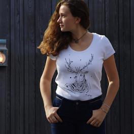 GRAFFAUNE CERF - Femme, manches courtes