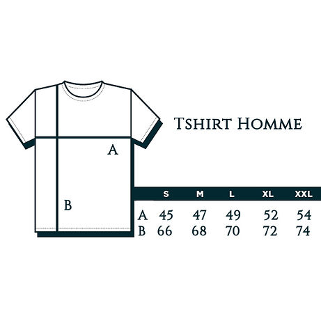 Guide Taille tshirt artiste homme size c