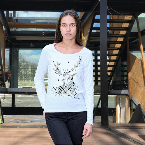 T-shirt artiste Daco - femme manches longues - série limitée- made in france