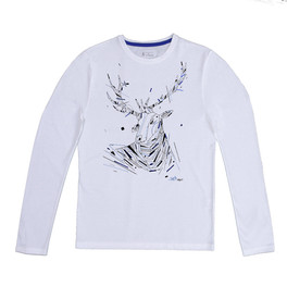 GRAFFAUNE CERF - Homme, manches longues