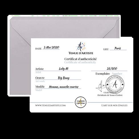 2020 Certificat authenticité rempli pou