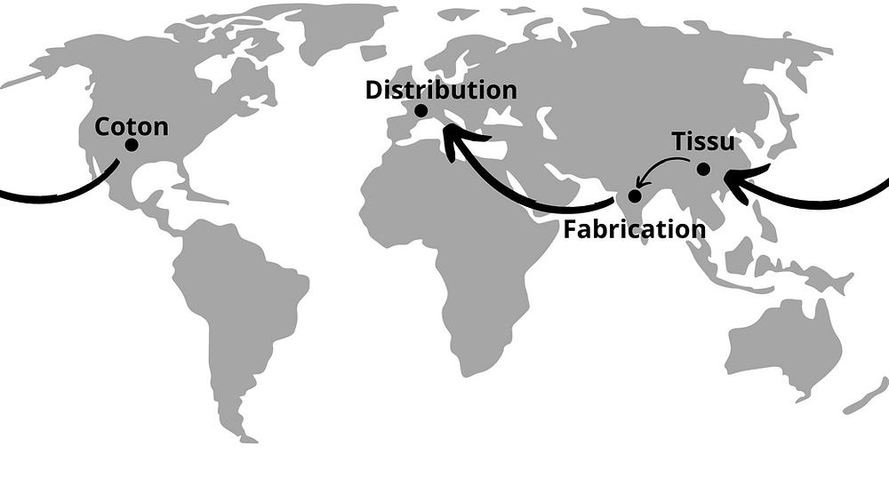 Les étapes de la fabrication d'un tshirt - fast fashion