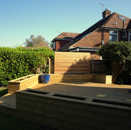 Decking to new extension