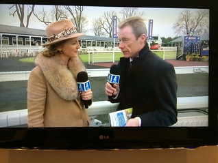 Gina on Channel4 racing at Uttoxeter