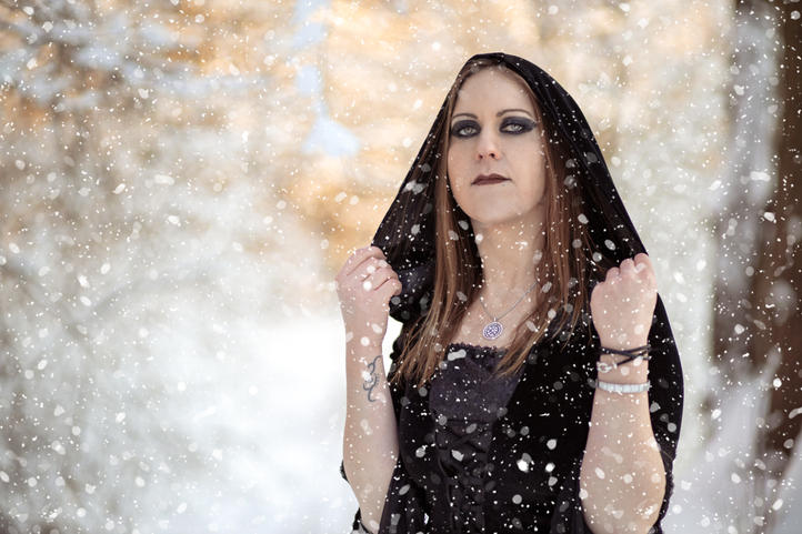 Simone im Schnee