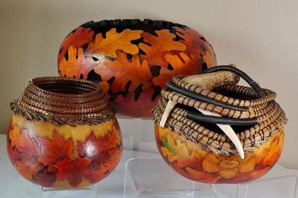 Jane Wilson Autumn Gourd Art