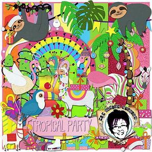 MJM Design Studios Tropical Party Craft