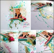 MJM Design Studios Scrapbook page