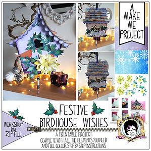 MJM Design Studios Festive Birdhouse Wis
