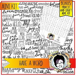 MJM Design Studios Have a Word kit cover