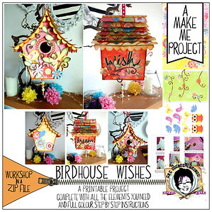 MJM Design Studios Birdhouse Wishes Make