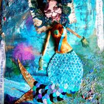 MJM Design Studios Mermaid canvas