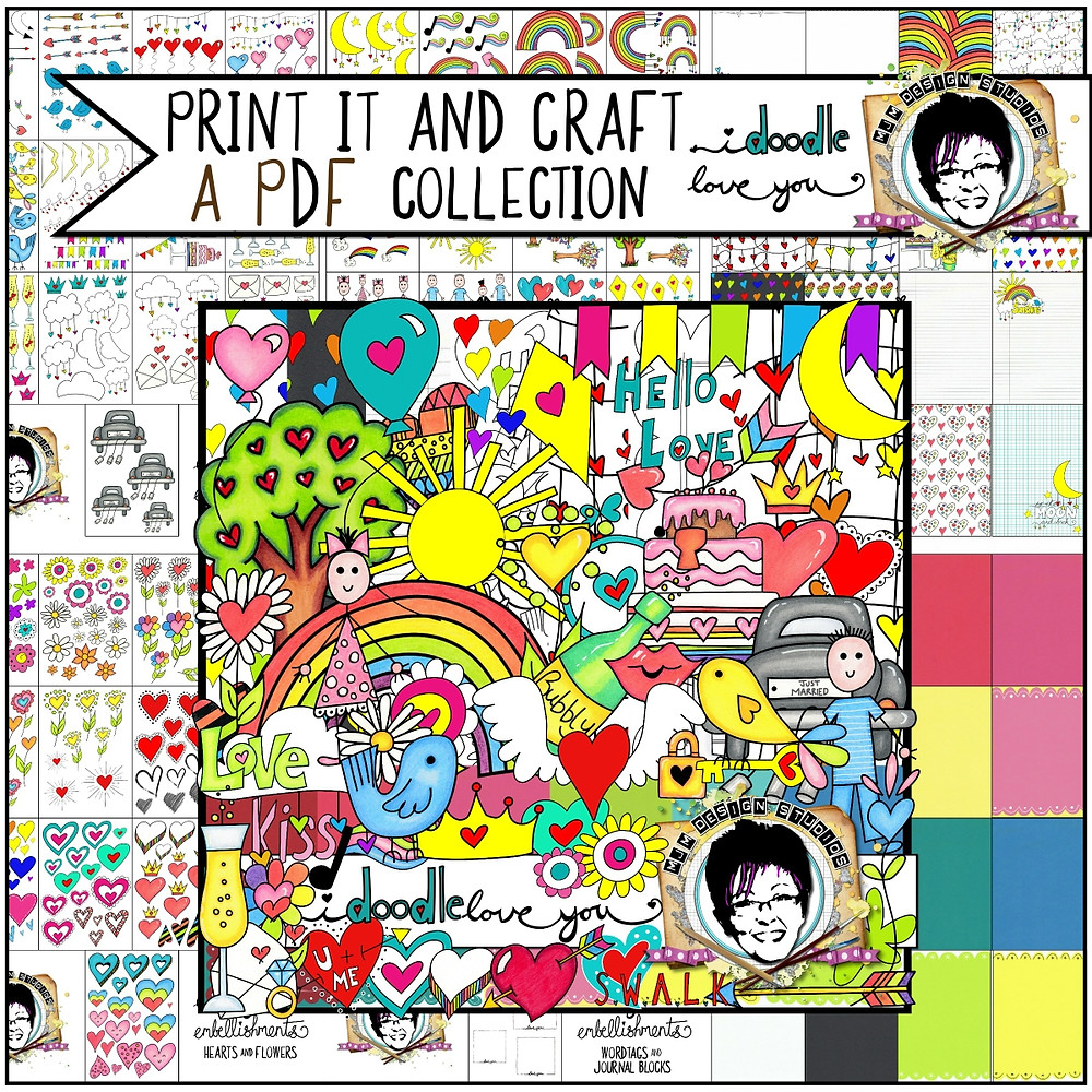 A collection of PDF's ready for you to simply print and get creative with.