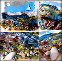 MJM Design Studios Silent Sea collage