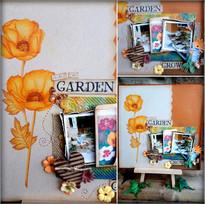 MJM Design Studios Garden Scrapbook page