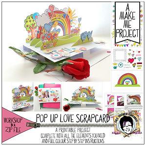 MJM Design Studios Pop up Love Card Make