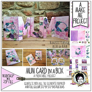 MJM Design Studios 3D Mum card Make Me.j