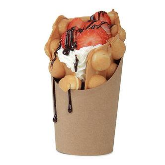 Vaso Cartón Kraft para Bubble Waffle