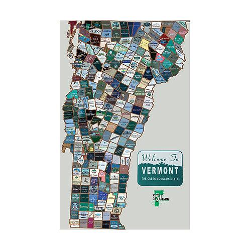 Vermont 251 Map (medium - 18x24)