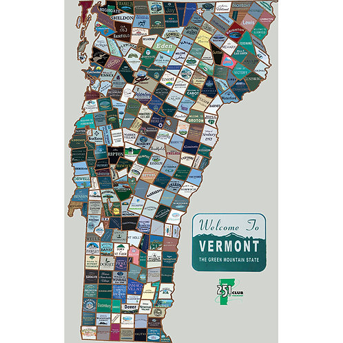 Vermont 251 Map (large - 24x36)