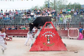 Festejos taurinos en Morés, octubre 2016.