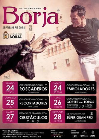 Festejos taurinos en Borja, septiembre 2016