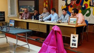 Charla taurina en Morés con Joven, Marcén e Imanol Sánchez.