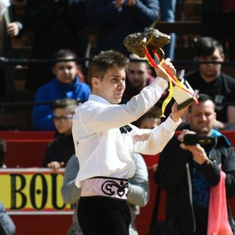 El turolense Ángel Pitarque campeón del Concurso de Recortadores de Valencia.