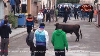 Festejos Taurinos en Pozuelo de Aragón, enero 2017.