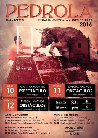 Festejos Taurinos en Pedrola, octubre 2016
