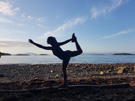 Natarajasana - Lord of the dance pose in Parksville, Vancouver Island