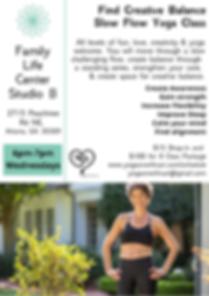 Seeking Balance Slow Flow Yoga Class @ F