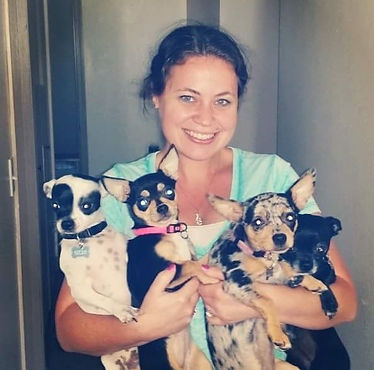 Me, the owner and creator SFC with our originl Chihuahuas