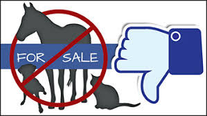 Facebook prohibits the sales of animals.....