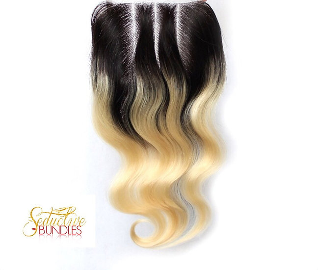 Ombre Blonde Body Wave Closure