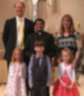 Johns Family, Angela, Jacob, Kaitlyn and Allison.  Fr. Jeo Poulose also in picture.