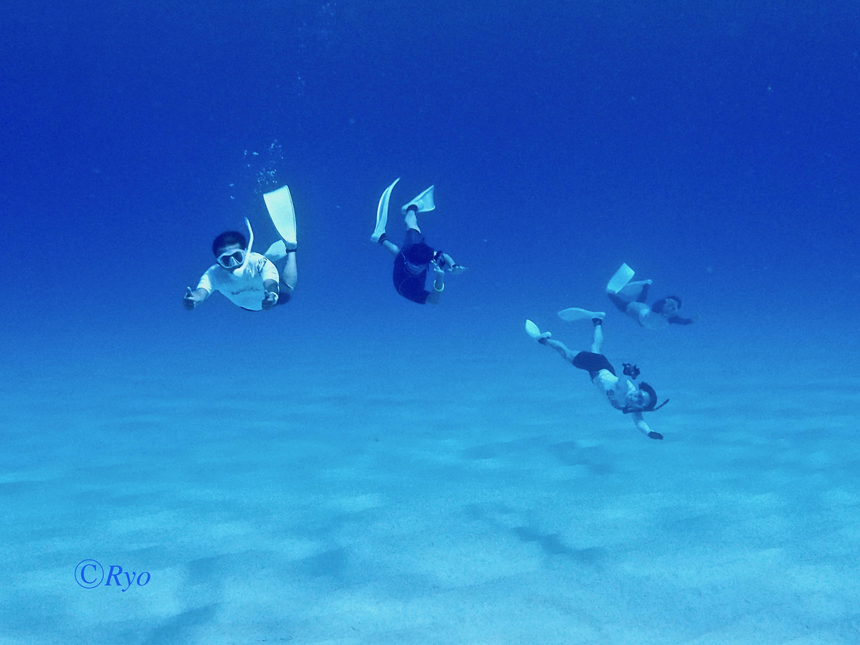 マリアナブルーの海に跳ぶ