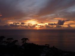 御蔵島の夕陽