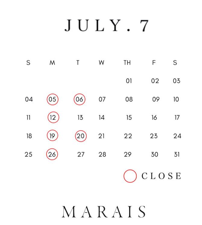 7月スタートです!