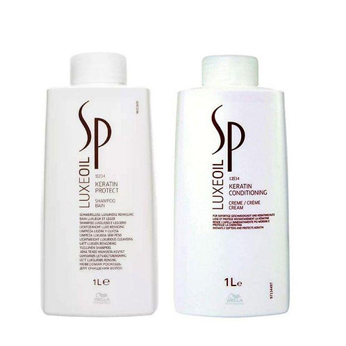 Kit Wella Sp Luxe Oil - Shampoo e Condicionador 1 Litro