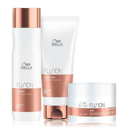 Kit Fusion Wella Shampoo250ml+Cond200ml+Mask150ml