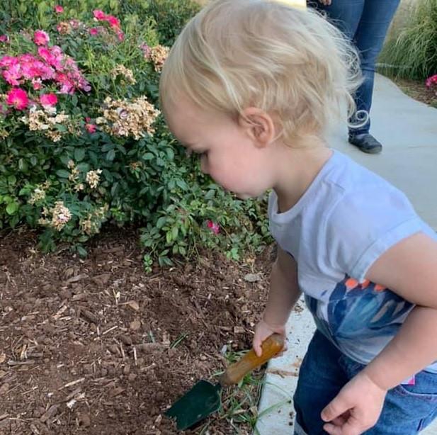 Prayer Garden (child weeding)