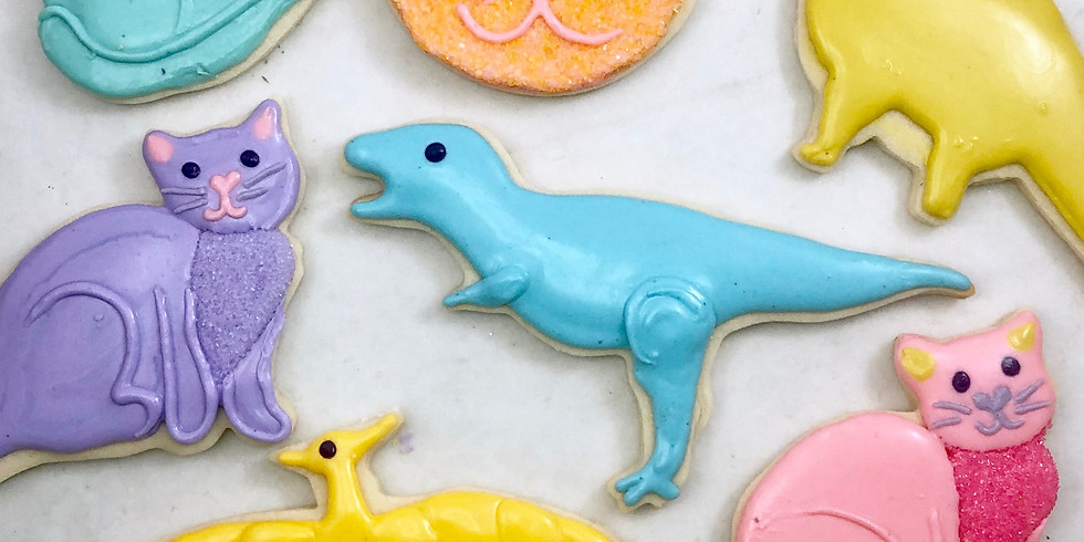 Kitty Cats & Dinosaurs Cookie Class