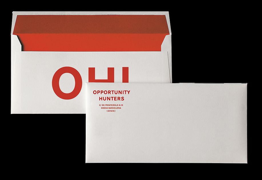 Letter envelope, part of the branding designed for the stationery of an advertising agency in Barcelona