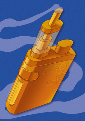Vape in gold